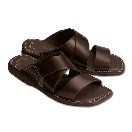 Mules confortables pour homme Du cuir confortable et du latex naturel offrent à vos pieds une agréable détente.