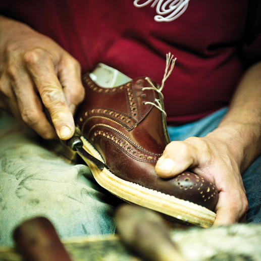 """Les chaussures """"Budapest"""" Cousues main en doux cuir de veau. Par Heinrich Dinkelacker."""