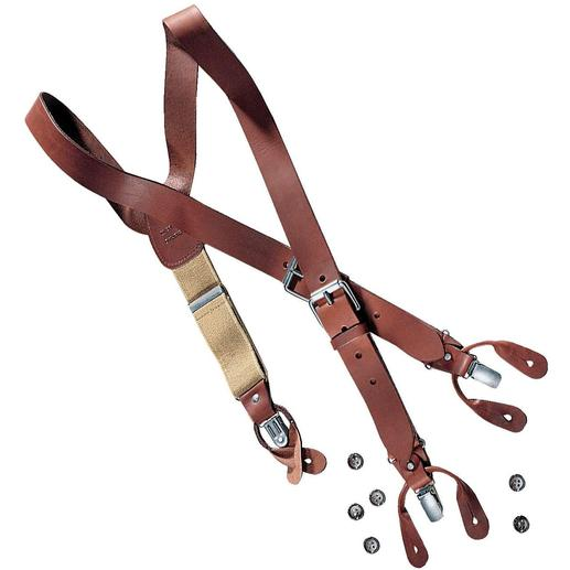 Bretelles en cuir Les bretelles en cuir véritable. Fabriquées à la main en Angleterre.