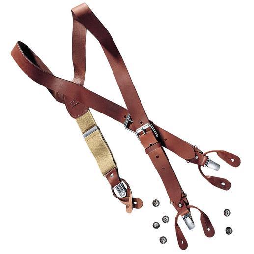 Les bretelles en cuir - Les bretelles en cuir véritable.