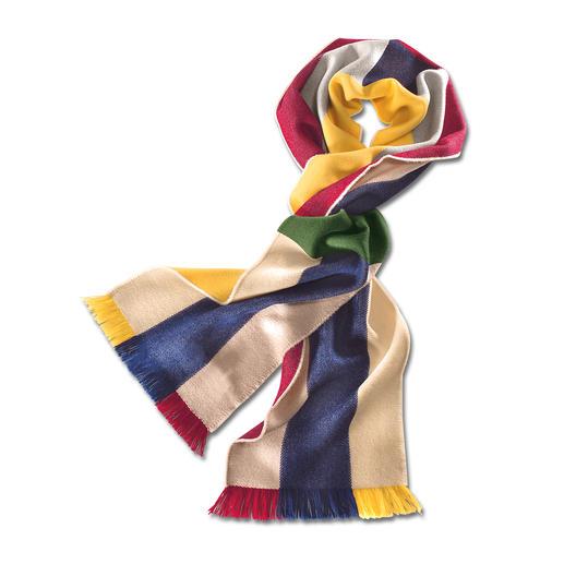 Écharpe arc-en-ciel de Johnstons Une écharpe multicolore - d'innombrables combinaisons. En laine mérinos extrafine.