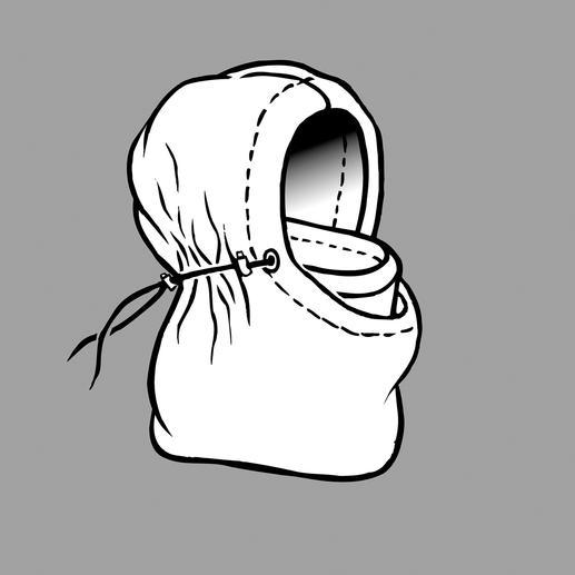 Rabattue de manière raffinée vers l'intérieur et bien fixée par l'extérieur, la Balaklava protège la tête, le cou et le visage. Elle est douce, chaude et ne laisse pas l'eau pénétrer.