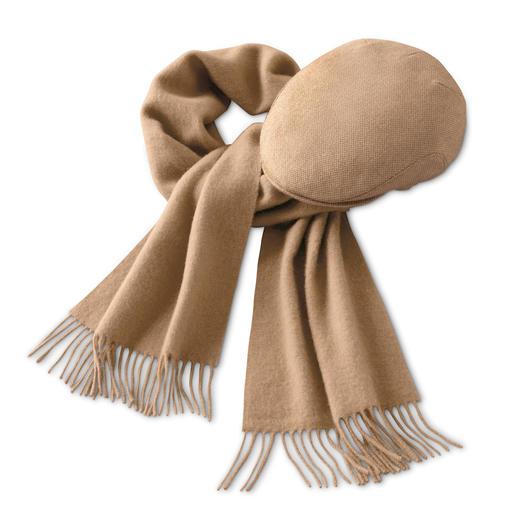 Bonnet ou Écharpe en poil de chameau Écharpe et casquette en poil de chameau fin. Idéal même pour les peaux sensibles.