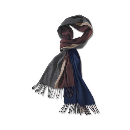 Foulard réversible en cachemire/soie Les couleurs classiques s'harmonisent avec toutes vos vestes,tous vos manteaux – parfait en voyage.De Piacenza