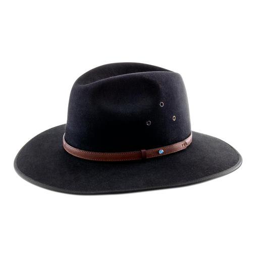 Chapeau Akubra L'Akubra original – avec une bande en cuir de kangourou et une opale véritable.