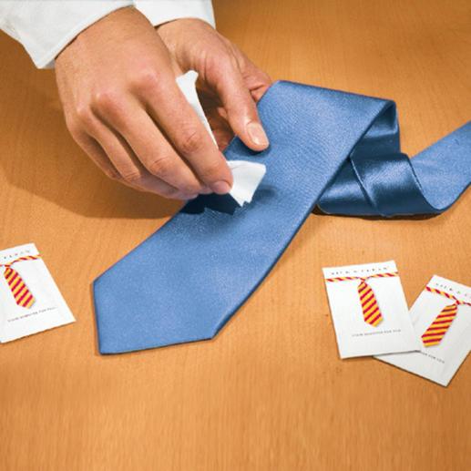 Les lingettes Silk & Clean, 15 lingettes Une tache sur votre cravate ? On va enfin vous sortir de ce mauvais pas.
