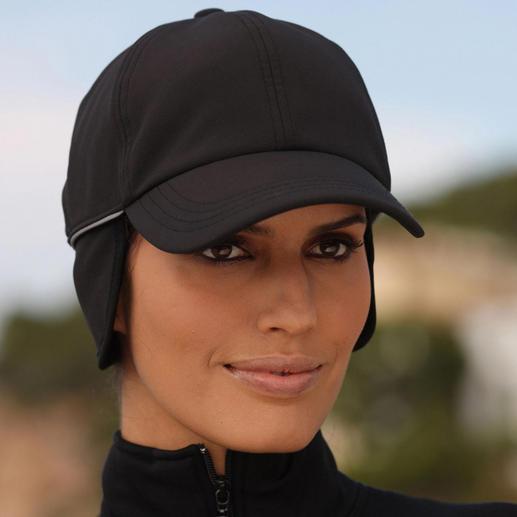 Casquette Softshell Enfin une casquette protégeant de l'humidité et du vent. En softshell respirant, tenant bien chaud.