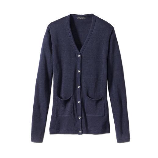 Cardigan en lin Phil Petter Une création estivale plus agréable, plus soignée et plus raffinée qu'une veste de tailleur.