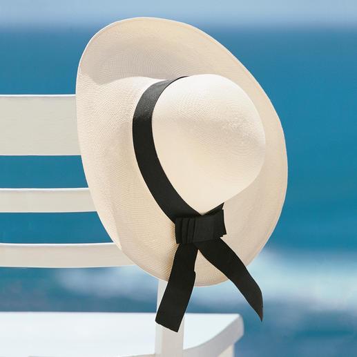 Panama femme avec ruban Le véritable panama pour femme. Fait main en Équateur, chaque chapeau est unique!
