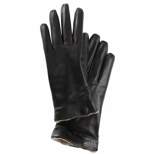 Gants Merola, Femme Le gant de luxe pour hiver et été. En cuir nappa d'agneau délicat. Avec doublure amovible en cachemire.