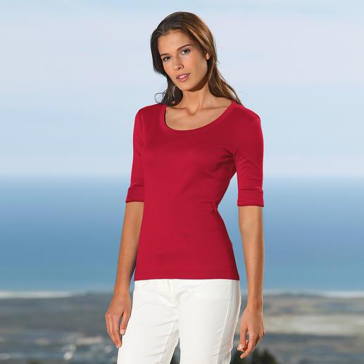 Pourquoi le monde entier recherche-t-il un shirt venu d'Autriche ? Réalisé dans un coton mercerisé des plus fins.