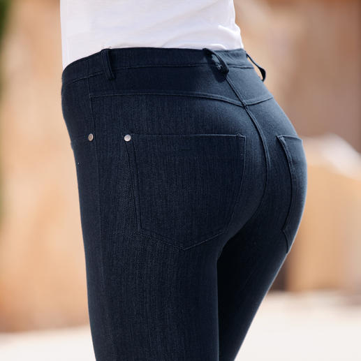 Blue Denim Jeggings Jegging : aussi confortable qu'un legging. À l'aspect d'un jean moulant.