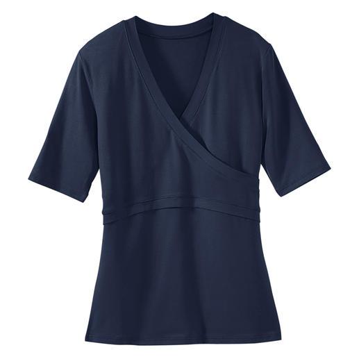 Le T-shirt « cache-cœur » Enfin un cache-cœur qui reste parfaitement en place. Son secret : l'aspect croisé, sans liens gênants.