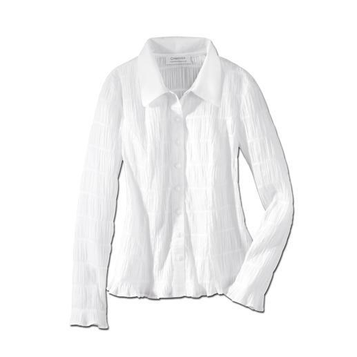 Chemisier froissé « easycare » Sans doute le chemisier blanc le plus facile d'entretien que vous n'avez jamais eu.