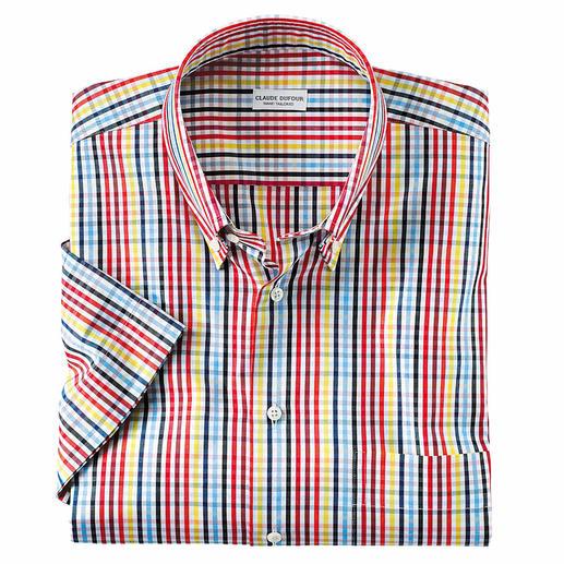 Chemise à manches courtes estivale à carreaux La chemise d'été qui va avec tous les unis.