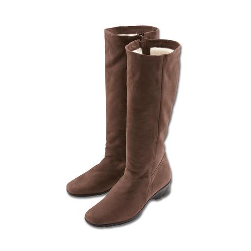 Bottes en peau d'agneau Arcus® Elle existe bel et bien : la botte d'hiver à la mode, polyvalente et confortable. En nubuck ultra fin.
