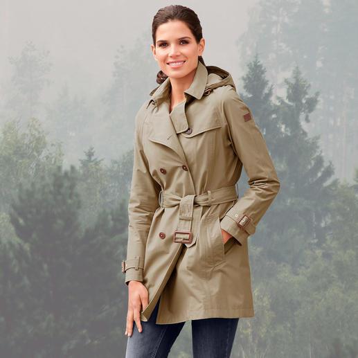 Trench-coat tous temps Aigle Un trench classique, pour affronter le vent et la pluie. Imperméable et coupe-vent. Bien chaud et respirant.
