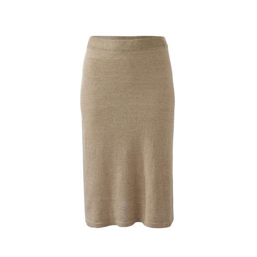 Débardeur, jupe ou cardigan en lin Junghans 1954 Il existe de nombreux twin-sets. Mais une jupe assortie est très rare. Le rare trio en tricot de lin aéré.