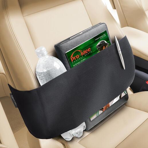 Ceinture de rangement Depoflex® Comment transformer votre siège passager en rangement sûr.