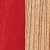 Bois d'orme/de frêne Rouge